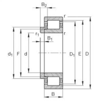Cylindrical Bearing NJ312-E-TVP2 + HJ312-E FAG