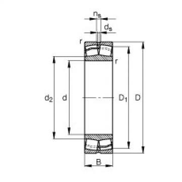 Spherical Roller Bearings 22332-E1-JPA-T41A FAG