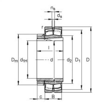 Spherical Roller Bearings 22334-E1-K-T41A + H2334 FAG
