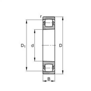 Spherical Roller Bearings 20318-K-MB-C3 FAG