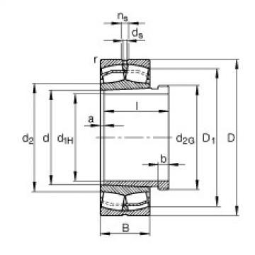 Spherical Roller Bearings 22211-E1-K + AHX311 FAG