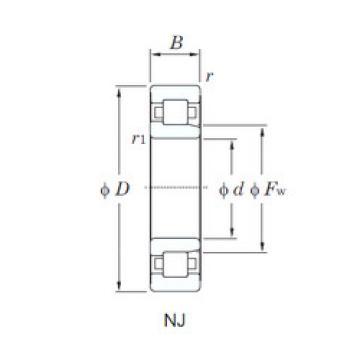 Cylindrical Bearing NJ306x3WE3/C9 NRB