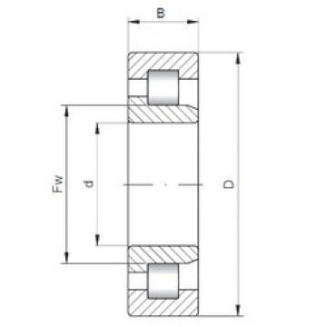Cylindrical Bearing NJ3308 ISO