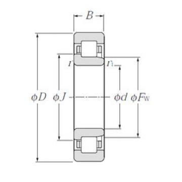 Cylindrical Bearing NJ308 NTN