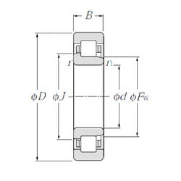 Cylindrical Bearing NJ315E NTN