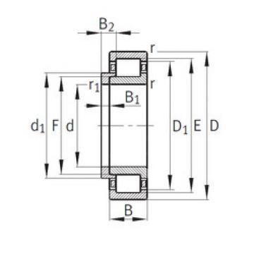 Cylindrical Bearing NJ348-E-M1+HJ348-E FAG