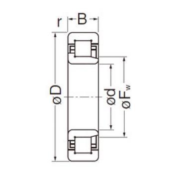Cylindrical Bearing NJ307EG NACHI