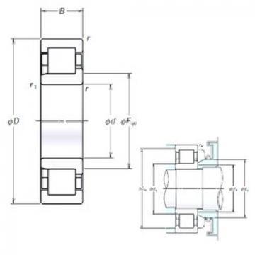 Cylindrical Bearing NJ312EM NSK