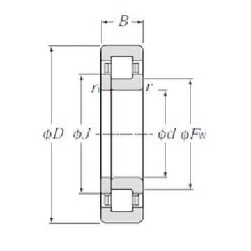 Cylindrical Roller Bearings Distributior NUP1017 NTN