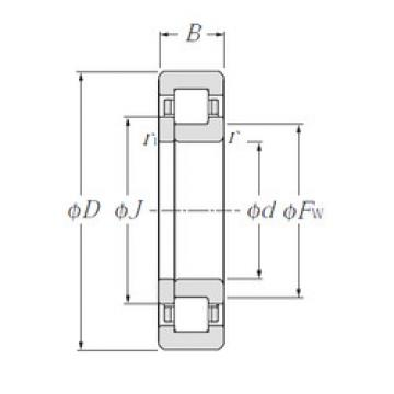 Cylindrical Roller Bearings Distributior NUP208 NTN