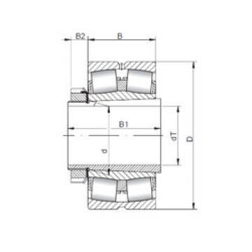 Spherical Roller Bearings 21322 KCW33+H322 ISO