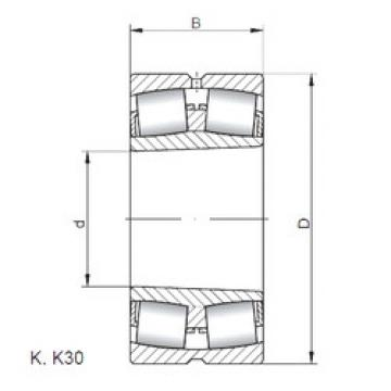 Spherical Roller Bearings 22213 KW33 ISO