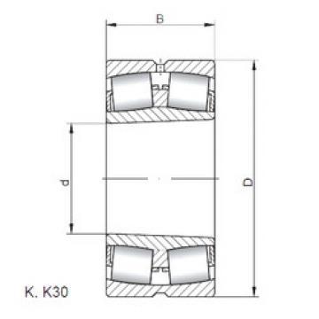 Spherical Roller Bearings 22222 KW33 ISO