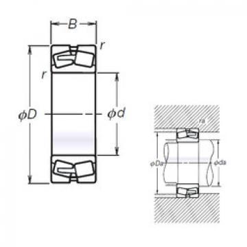 Spherical Roller Bearings 21307L12CAM NSK