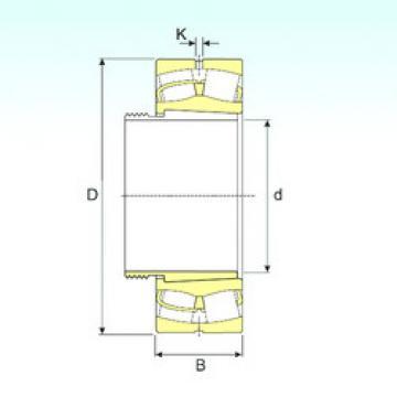Spherical Roller Bearings 22338 EKW33+AH2338 ISB