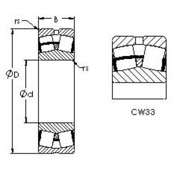 Spherical Roller Bearings 22228CW33 AST