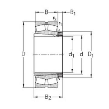 Spherical Roller Bearings 23038-K-MB-W33+H3038 NKE
