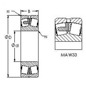 Spherical Roller Bearings 22311MAC4F80W33 AST