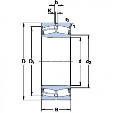 Spherical Roller Bearings 22228-2CS5K/VT143 SKF