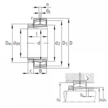 Spherical Roller Bearings 22332-K-MB+H2332 FAG