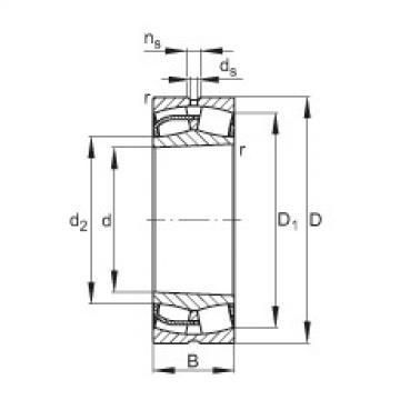 Spherical Roller Bearings 23048-E1-K FAG