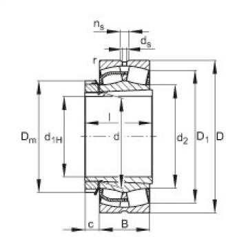Spherical Roller Bearings 23044-E1-K + H3044X FAG