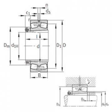 Spherical Roller Bearings 230/530-B-K-MB+H30/530 FAG