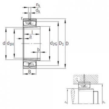 Spherical Roller Bearings 23044-K-MB+AH3044G FAG
