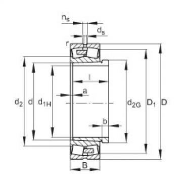 Spherical Roller Bearings 22348-E1A-K-MB1 + AH2348 FAG
