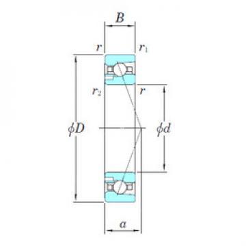 angular contact thrust bearings 3NCHAD016CA KOYO