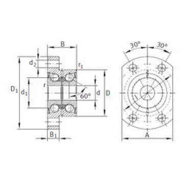 angular contact ball bearing installation ZKLFA1563-2RS INA