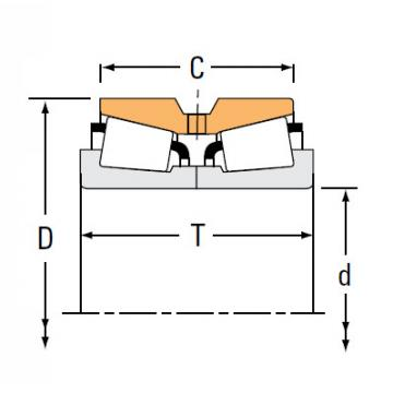 TNA Series Tapered Roller Bearings double-row NA842 834D