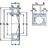 Angular Contact Ball Bearings 71918 CE/HCP4AL SKF