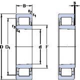 thrust ball bearing applications NU 208 ECKP SKF