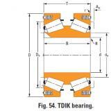tdik thrust tapered roller bearings ee833157dw 833232