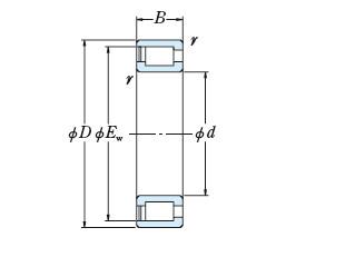 FULL-COMPLEMENT CYLINDRICAL ROLLER BEARINGS JAPAN NCF2968V