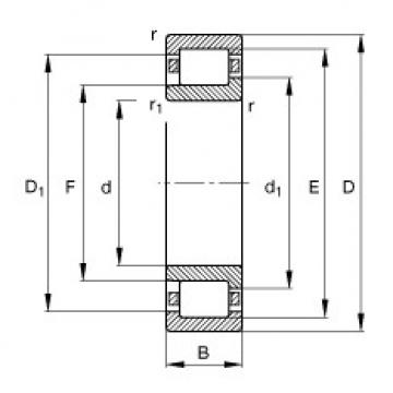 Cylindrical Bearing NJ407-M1 FAG