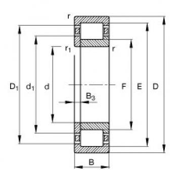Cylindrical Roller Bearings Distributior NUP210-E-TVP2 FAG