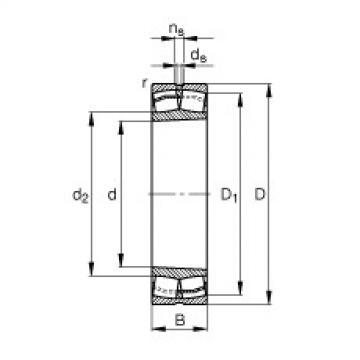 Spherical Roller Bearings 21307-E1-K-TVPB FAG