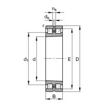 Cylindrical Bearing NN3016-AS-K-M-SP FAG