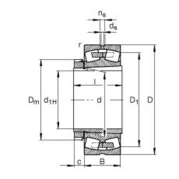 Spherical Roller Bearings 23030-E1A-K-M + H3030 FAG