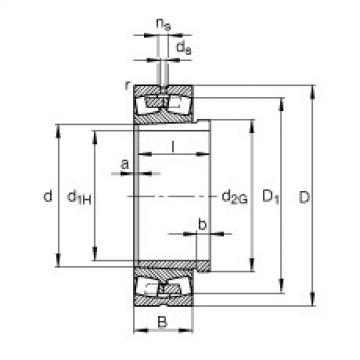 Spherical Roller Bearings 23028-E1A-K-M + AHX3028 FAG