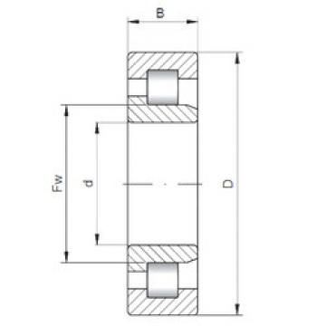 Cylindrical Bearing NJ3312 ISO