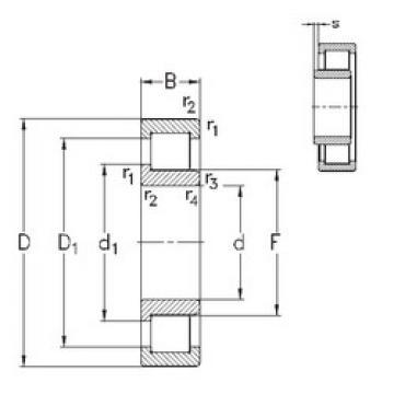 Cylindrical Bearing NJ406-M NKE