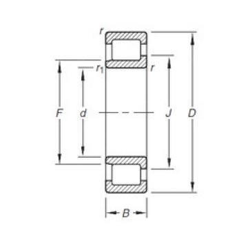 Cylindrical Bearing NJ304E.TVP Timken
