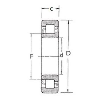 Cylindrical Bearing NJ308 FBJ