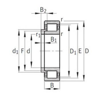 Cylindrical Bearing NJ340-E-M1+HJ340-E FAG