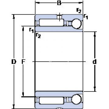 Cylindrical Bearing NKIA 5907 SKF