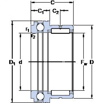 Cylindrical Bearing NKX 17 SKF