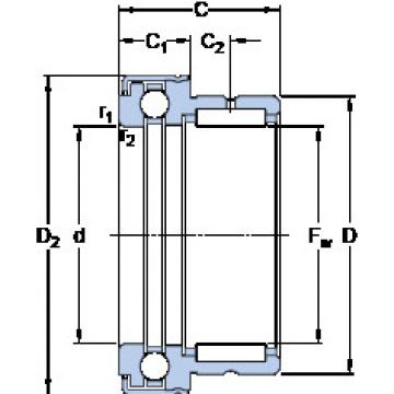 Cylindrical Bearing NKX 25 Z SKF